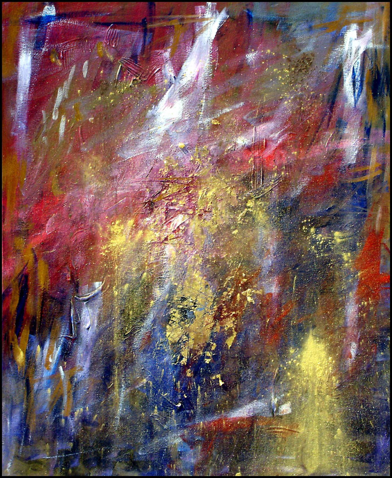 Abstract Acrylic Art|Mixed Media|Rage